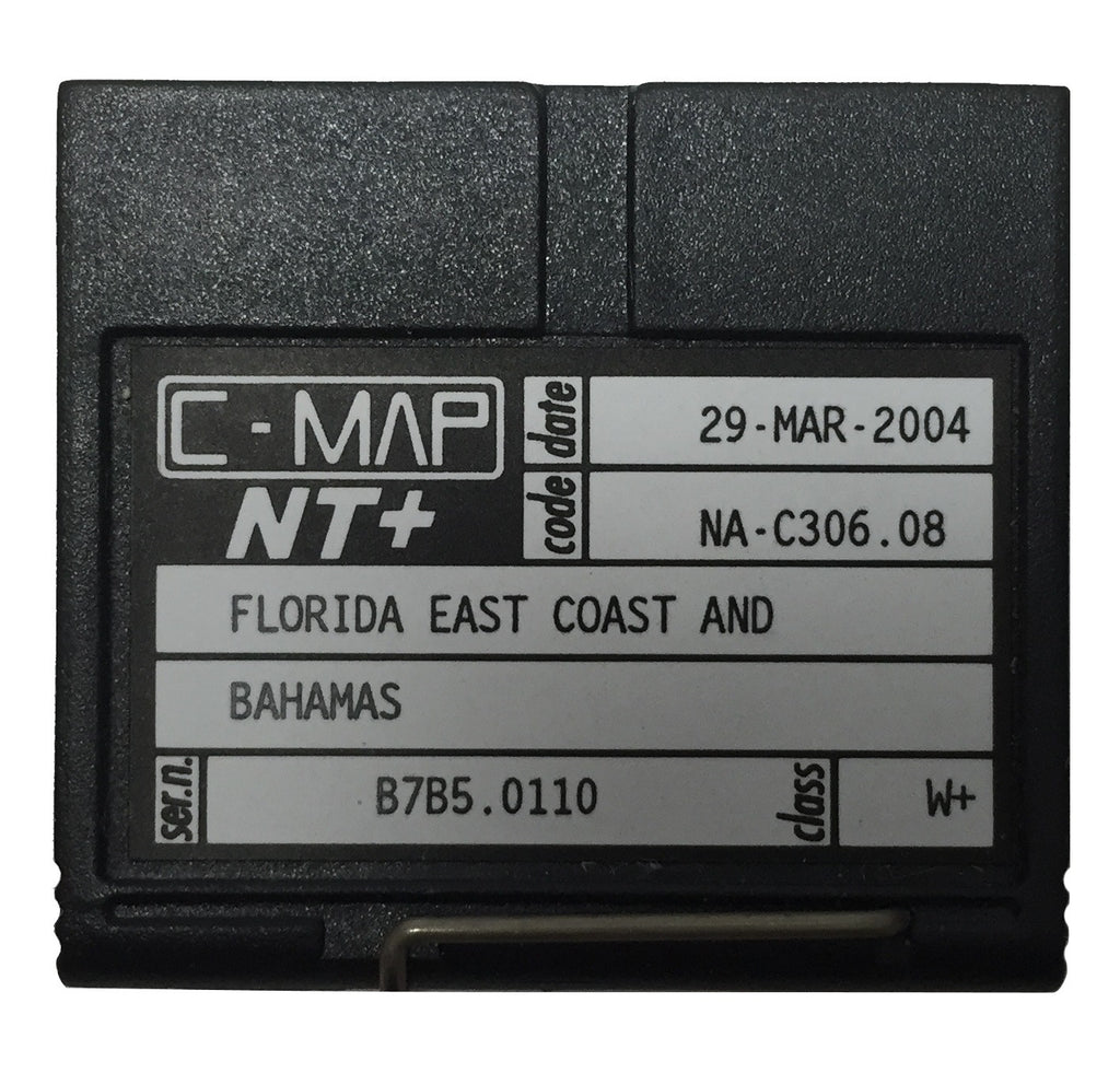 [USED] C-Map NT+ FP-Card NA-C306.08 Florida East Coast, Bahamas 29-Mar-2004 sn B7B5.0110
