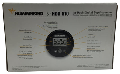 used] humminbird hdr610 sounder gauge sn 7627555 – marine, Fish Finder