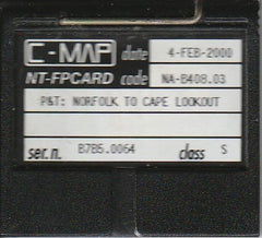 [USED] C-Map NT FP-Card NA-B408.03 Norfolk to Cape Lookout 4-Feb-2000 sn B7B5.0064