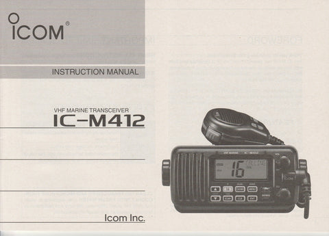 Icom A-6868D-1US Instruction Manual for IC-M412 VHF Marine Tracsceiver