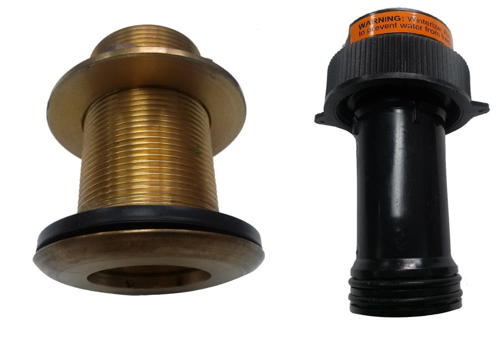 Airmar 20-398-02 B17-DT800 2inch - 51mm OD Non-Valve Bronze Thru-Hull Tube Assembly with Blanking Plug