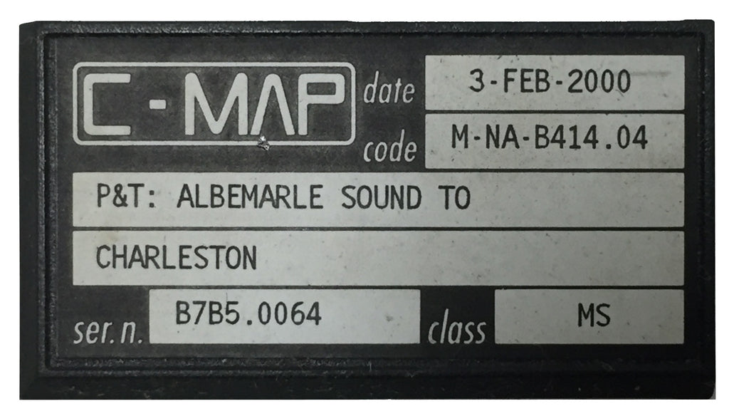 [USED] C-Map C-Card M-NA-B414.04 P&T: Albemarle Sound to Charleston 3-Feb-2000 sn B7B5.0064
