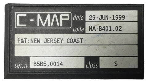 [USED] C-Map C-Card NA-B401.02 P&T: New Jersey Coast 29-Jun-1999 sn B5B5.0014