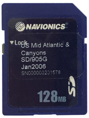 [USED] Navionics SD 905G USA Mid Atlantic Canyons Jan (2006) sn 000000201578