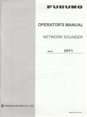 Furuno OME-203-60B1 Operator's Manual for DFF1 Network Sounder