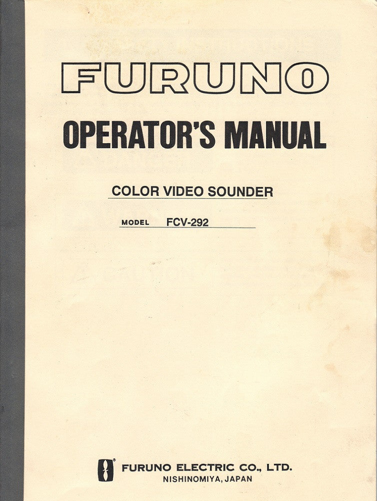 Furuno OME-235-20F Operator's Manual for FCV292 Color Video Sounder [Used, Very Good]