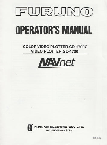 Furuno OME-440-90H Operator's Manual for NAVnet GD1700 Video Plotter and GD1700C Color Video Plotter