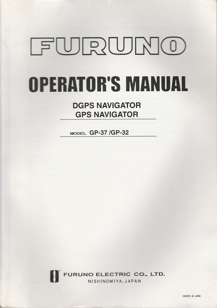 Furuno OME-442-00E2 Operator's Manual for GP32 GPS Navigator and GP37 DGPS Navigator [Used Very Good]