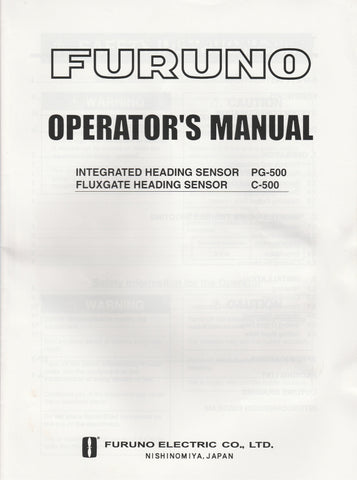 Furuno OME-725-50C Operator's Manual for PG500 or C500 Heading Sensors