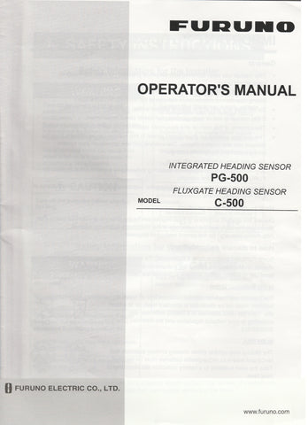 Furuno OME-725-50D Operator's Manual for PG500 or C500 Heading Sensors