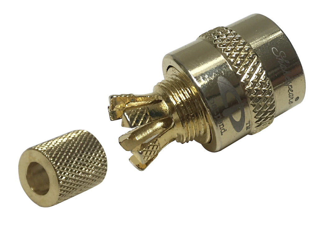 Shakespeare Centerpin PL-259-CPB-G UHF/VHF Coaxial Connector for RG-58