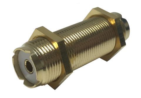 Shakespeare PL-258-L-G UHF/VHF Coaxial Bulkhead Barrel Connector