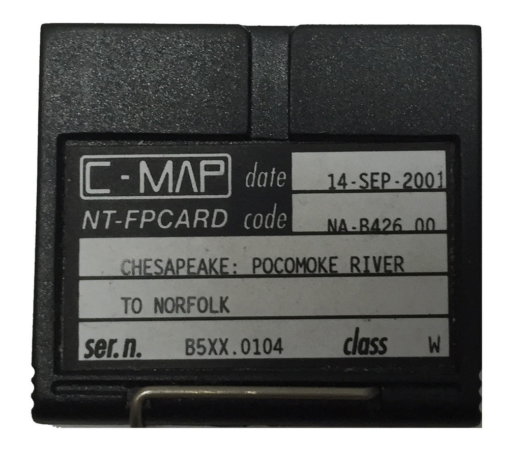 [USED] C-Map NT FP-Card NA-B426.00 Chesapeake, Pocomoke River to Norfolk 14-Sep-2001 sn B5XX.0104
