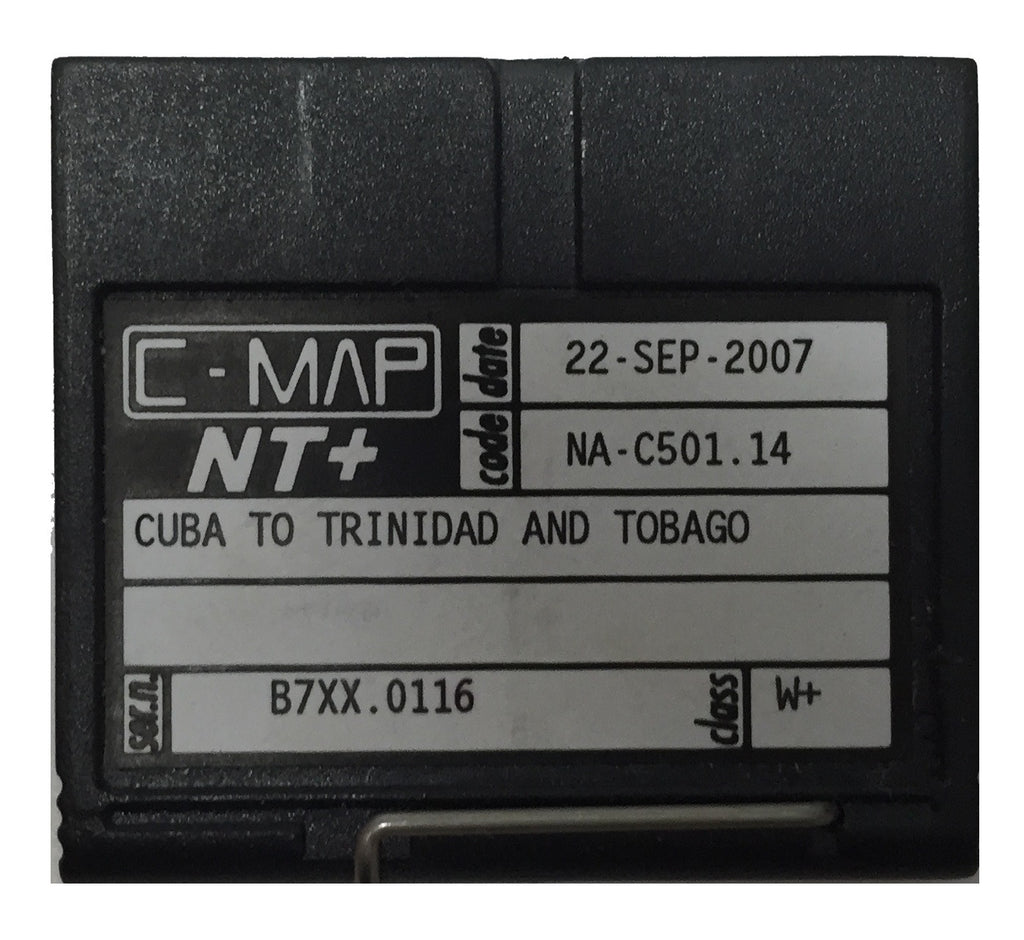 [USED] C-Map NT+ FP-Card NA-C501.14 Cuba to Trinidad and Tobago 22-Sep-2007 sn B7XX.0116