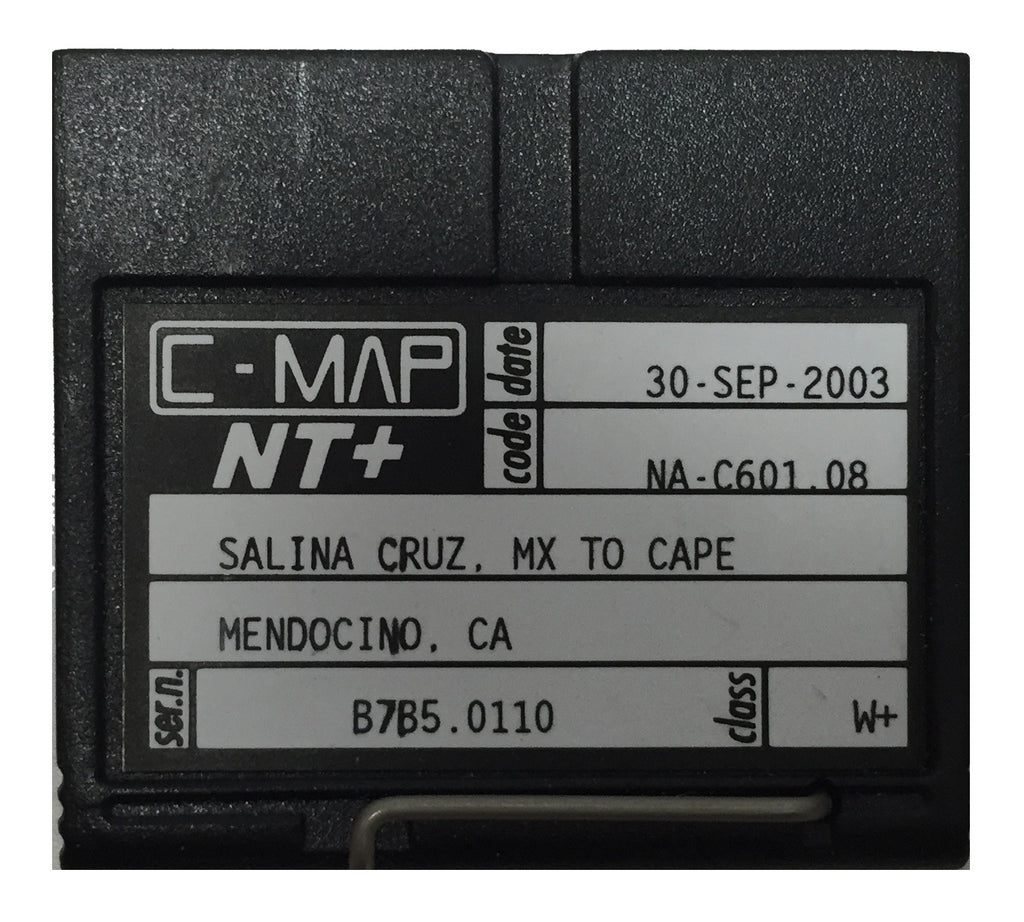 [USED] C-Map NT+ FP-Card NA-C601.08 Salina Cruz MX to Cape Mendocino CA 30-Sep-2003 sn B7B5.0110