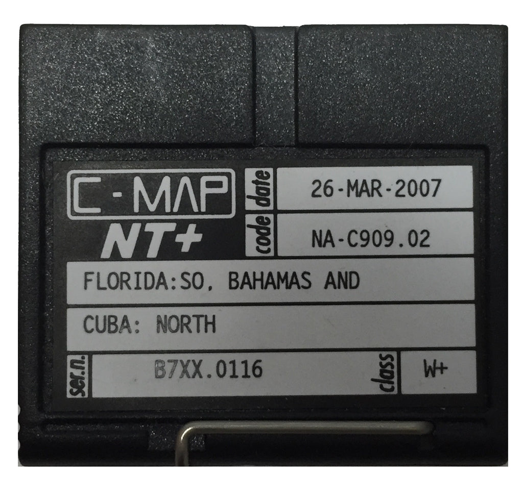 [USED] C-Map NT+ FP-Card NA-C909.02 South Florida, Bahamas, and North Cuba 26-Mar-2007 sn B7XX.0116
