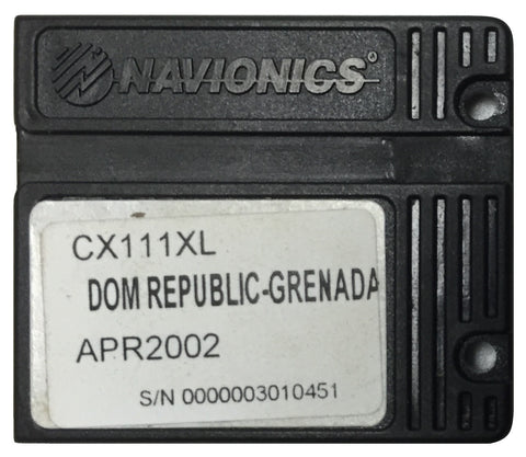 [USED] Navionics NAVchart Classic CX111XL Dominican Republic to Grenada April 2002 sn 0000003010451