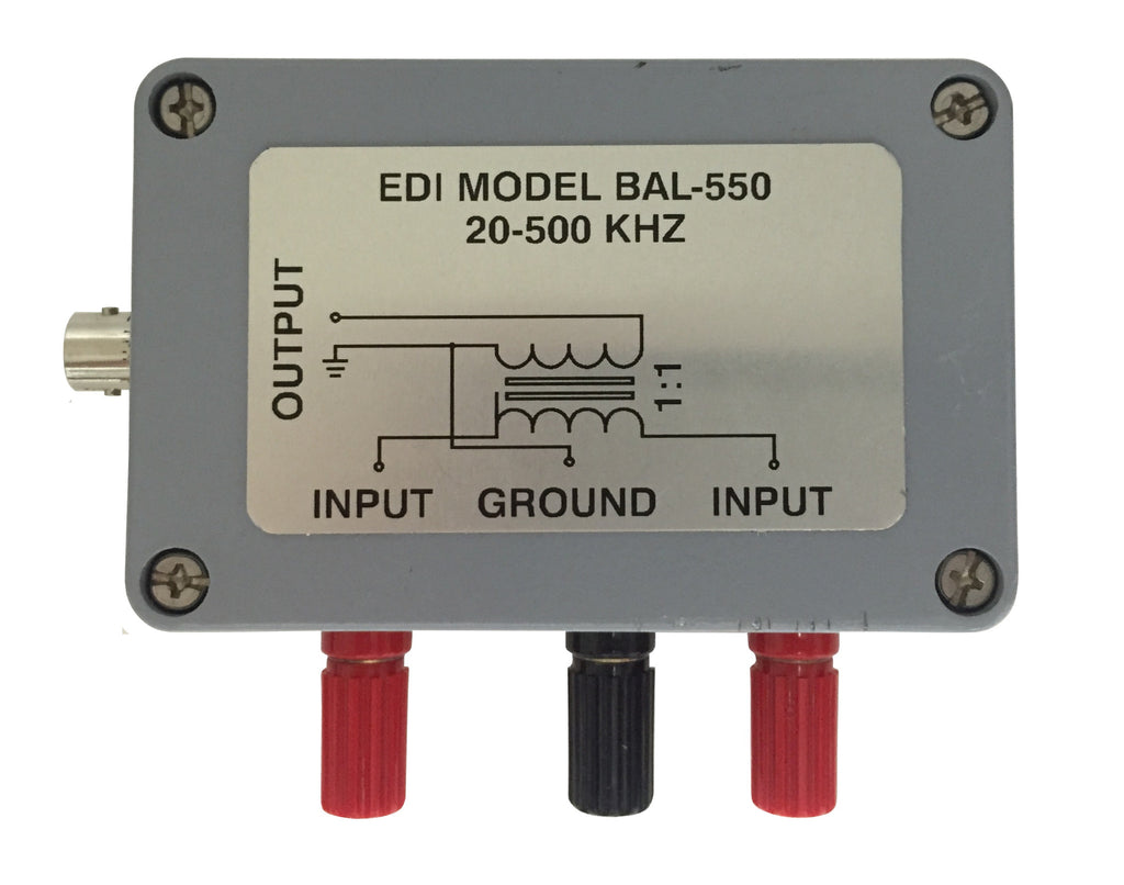 [USED] Electronic Devices BAL-550 20-500kHz Balanced to Unbalanced Line Converter (ref-001)