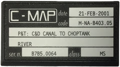 [USED] C-Map C-Card M-NA-B403.05 P&T: Chesapeake and Delaware Canal to Choptank 21-Feb-2001 sn B7B5.0064