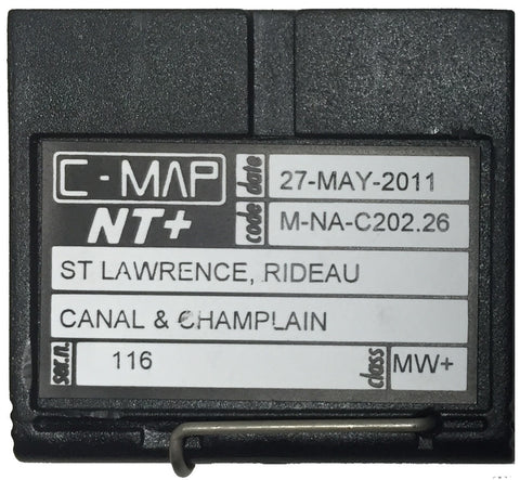 [USED] C-Map NT+ FP-Card M-NA-C202.26 St. Lawrence, Rideau Canal and Champlain 27-May-2011 sn 0116
