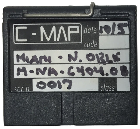 [USED] C-Map NT FP-Card M-NA-6404.08 Miami to New Orleans Oct-2005 sn 0017