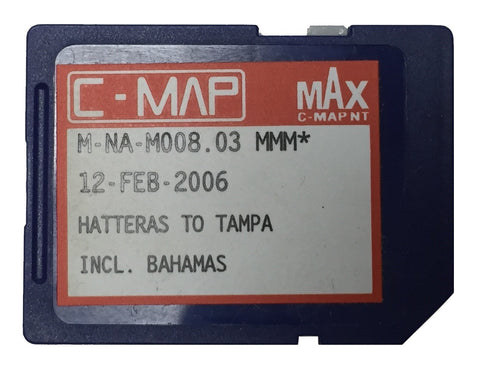 [USED] C-Map NT mAx SD-Card M-NA-M008.03 Hatteras to Tampa and the Bahamas 12-Feb-2006 sn REF-0001