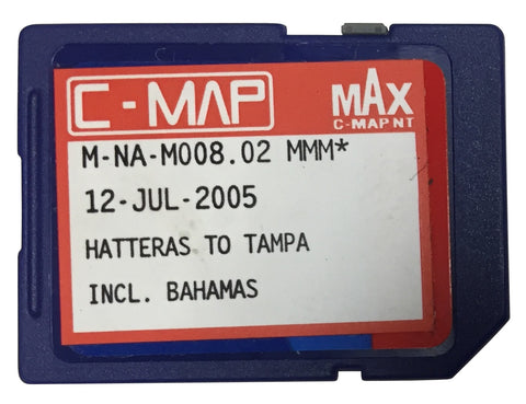[USED] C-Map NT mAx SD-Card M-NA-M008.02 Hatteras to Tampa and the Bahamas 12-Jul-2005 (ref 001)