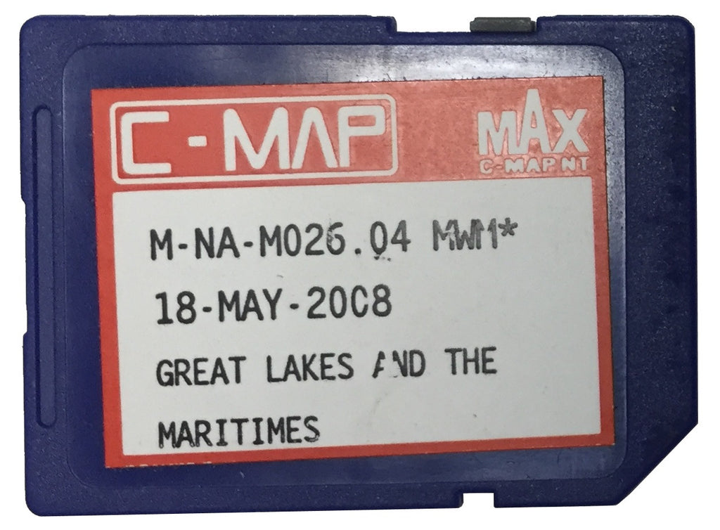 [USED] C-Map NT mAx SD-Card M-NA-M026.04 Great Lakes and the Maritimes 18-May-2008 sn REF0001