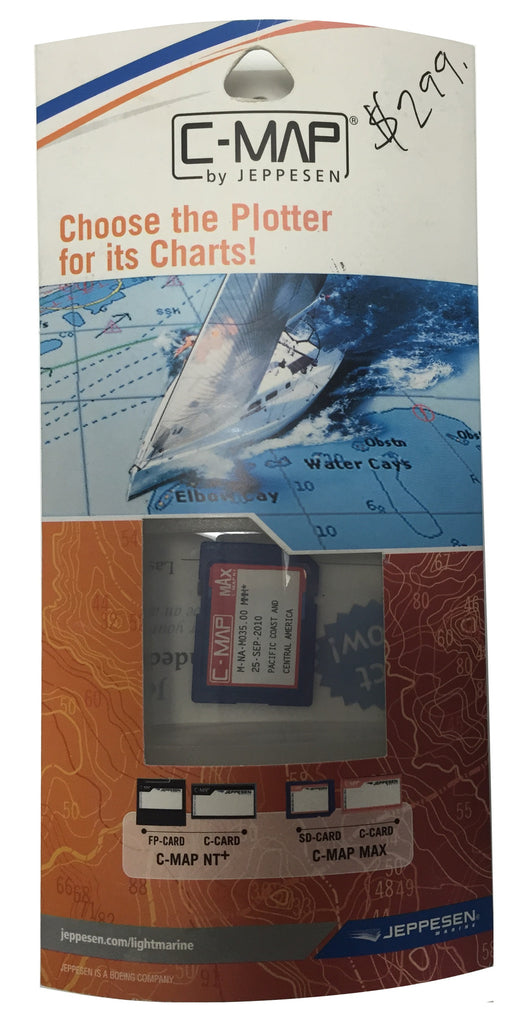[USED] C-Map NT mAx SD-Card M-NA-M035.00 Pacific Coast and Central America 25-Sep-2010 sn REF0001