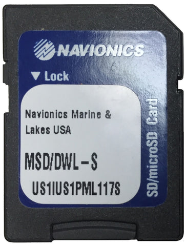 [USED] Navionics MSD/DWL-S Marine and Lakes USA sn US1IUS1PML117S