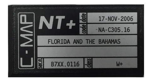 [USED] C-Map NT+ C-Card NA-C305.16 Florida and the Bahamas 17-Nov-2006 sn B7XX.0116