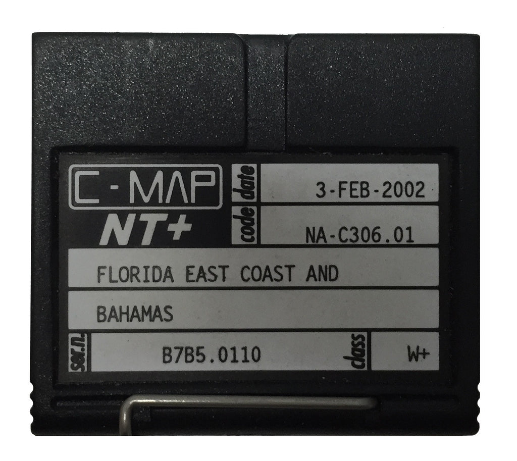 [USED] C-Map NT+ FP-Card NA-C306.01 Florida East Coast and Bahamas 3-Feb-2002 sn B7B5.0110