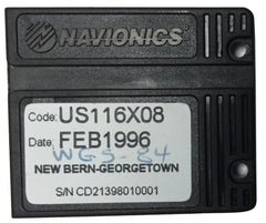[USED] Navionics NAVchart Classic US116X08 Newbern to Georgetown Feb 1996 sn CD21398010001