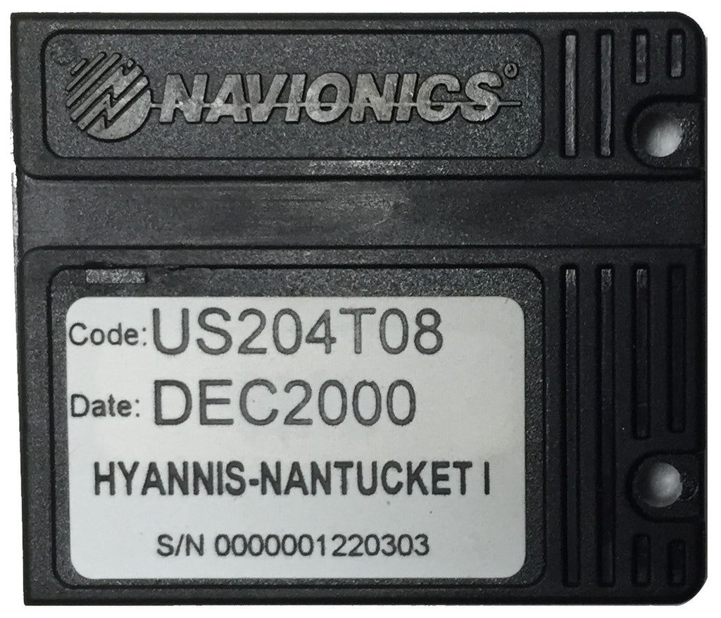 [USED] Navionics NAVchart Classic US204T08 Hyannis to Nantucket Island Dec 2000 sn 0000001220303