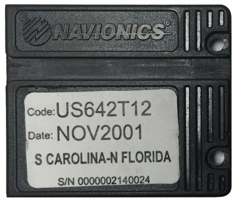 [USED] Navionics NAVchart Classic US642T12 South Carolina and Florida Nov 2001 sn 0000002140024