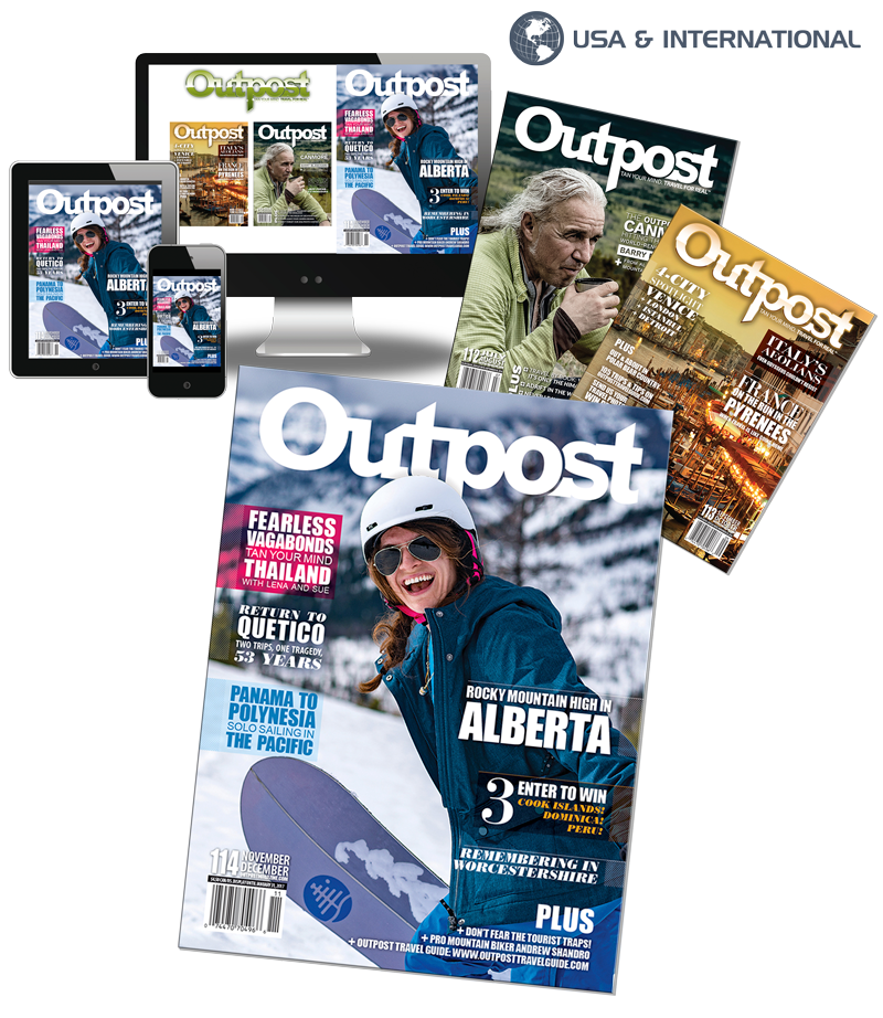 1 Year New US/International Print + Digital Subscription to Outpost Magazine - The Outpost Shop