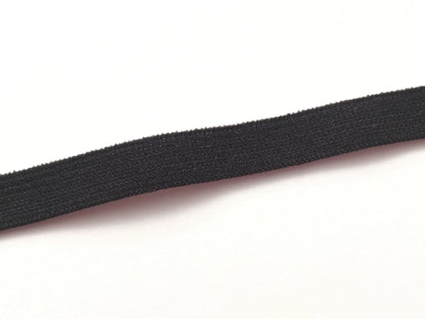The Wig Department - Black soft elastic - 8mm wide