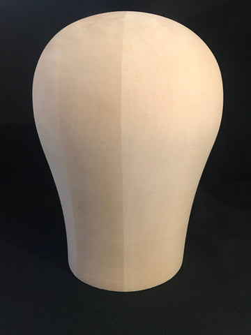 Wooden Wig Block - The Wig Department