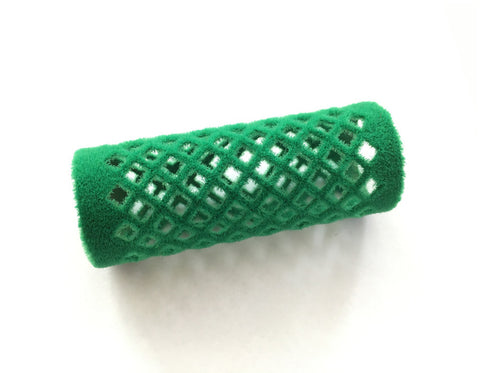 The Wig Department- 24mm Short Green Flocked Hair Roller