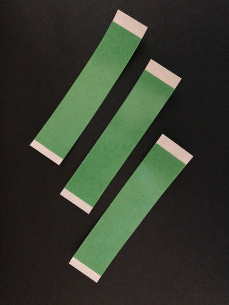 476/1 Walkers Easy Green Tape Strips - 3 inch x 3/4 inch