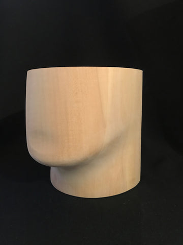 Wood chin block for making beards - The Wig Department