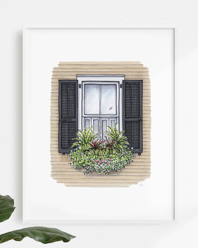 Charleston Flower Box Art Print