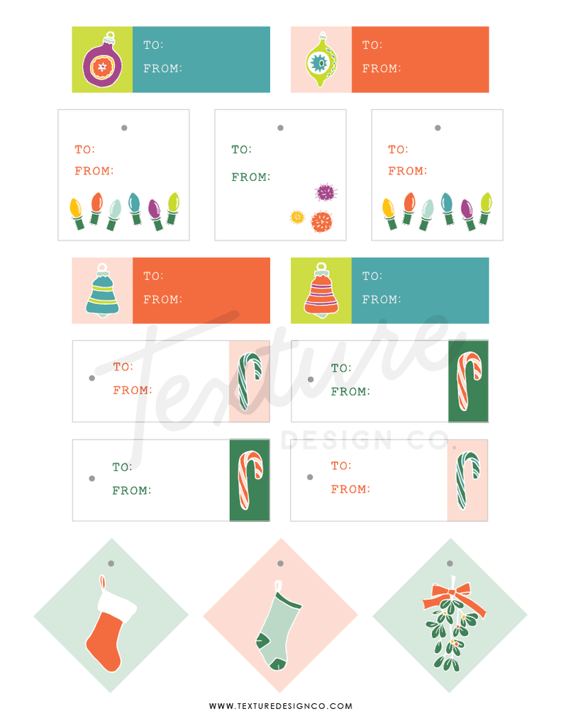 Christmas Gift Tag Downloadable PDF