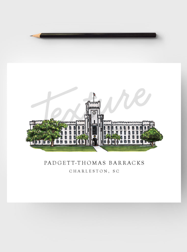College Art Print - The Citadel - Charleston, SC
