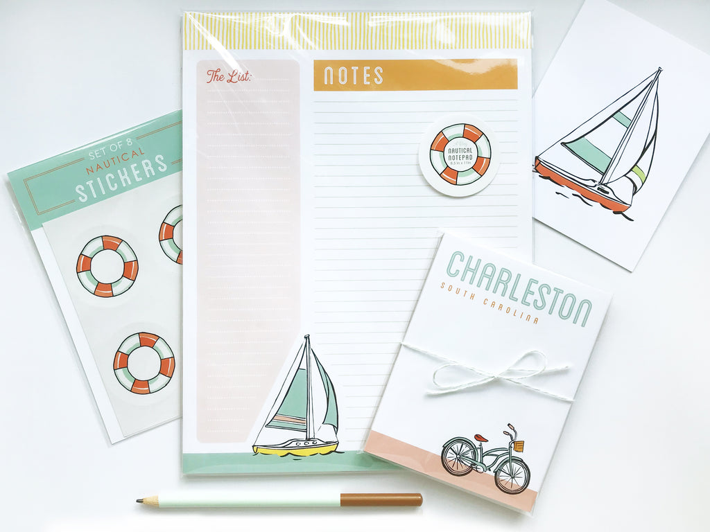 Charleston Notepad - Bike Cruising