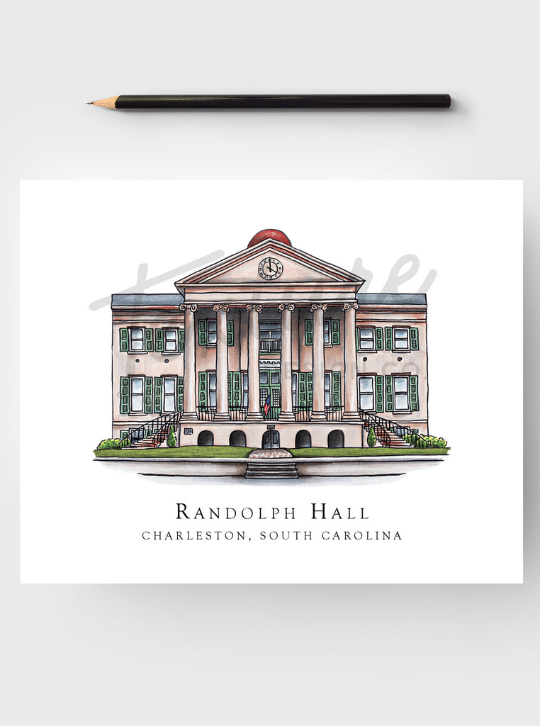 College Art Print - College of Charleston - Charleston, SC