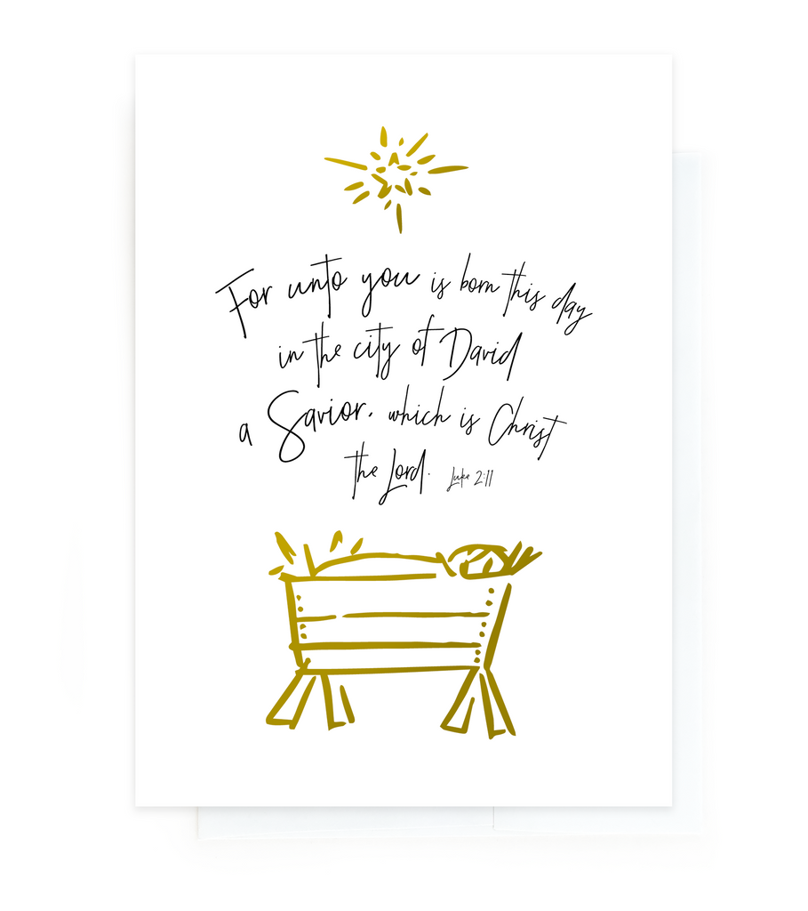 Holiday Greeting Card - Christmas - Nativity