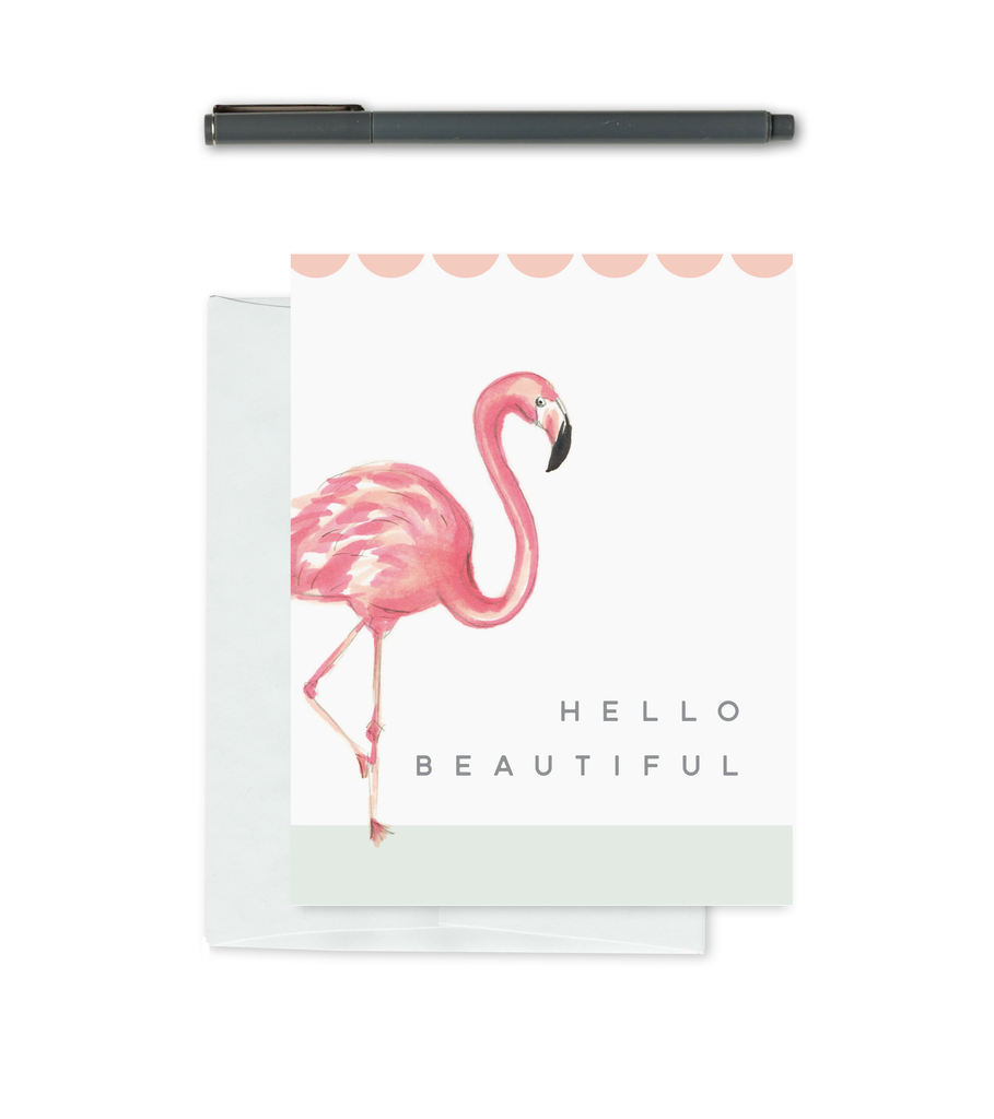 Greeting Card - Beautiful Flamingo