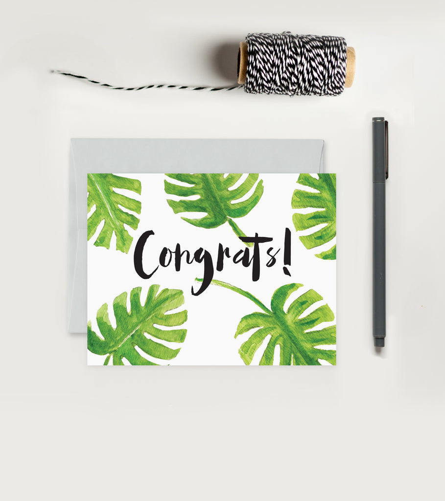Greeting Card - Congrats - Palm Leaf