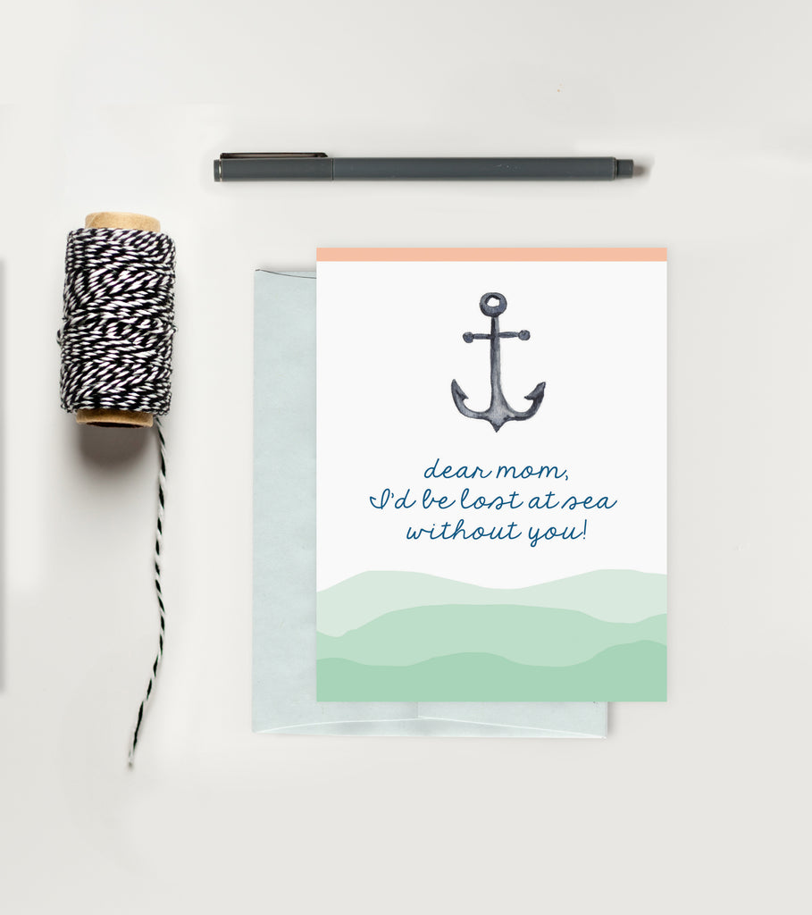 Holiday Greeting Card - Mother's Day - Anchor Card